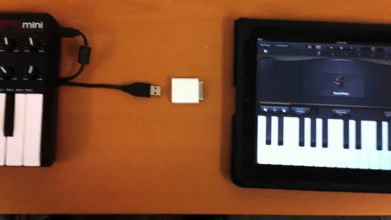 connecting usb audio interfaces midi controllers and keyboards to an iphone or ipad [ 1280 x 720 Pixel ]