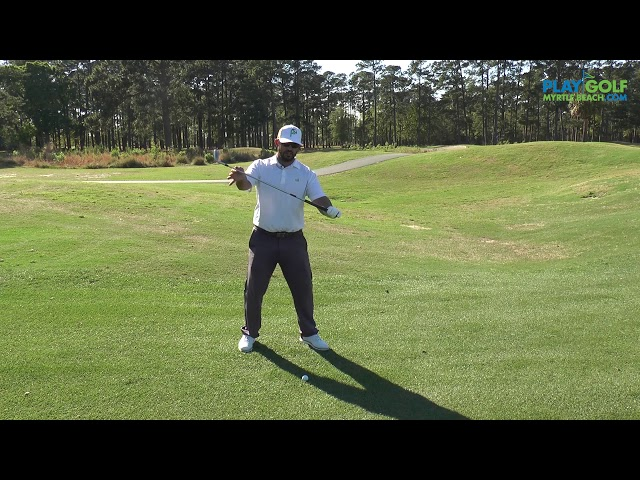 Tip Tuesday | How to Handle a Downhill Lie