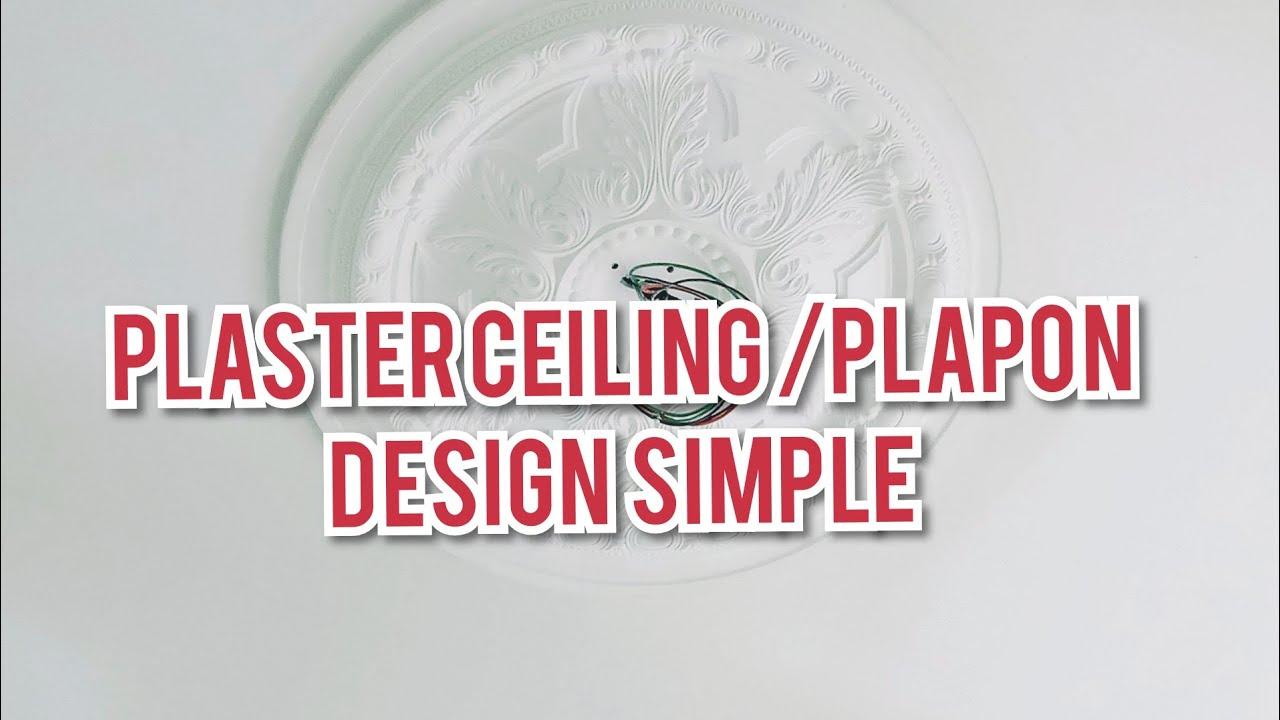 plaster ceiling design simple - YouTube