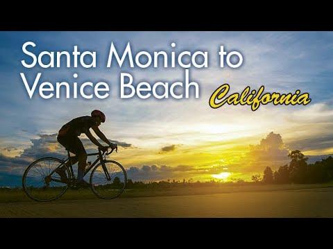 Santa Monica to Venice, Cruising The Bike Path - Gopro HD - Biking, Running, Paddling
