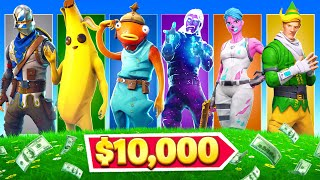 $10,000 Random Skin Challenge in Fortnite!