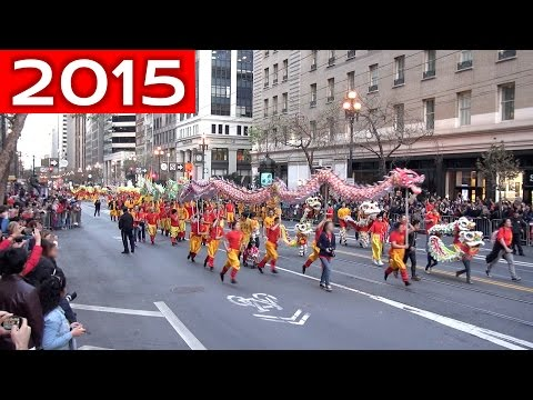Chinese New Year Parade 2015 San Francisco (compilation)