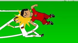 PEPE HEADBUTTS MULLER 🇩🇪Germany vs Portugal 4-0🇵🇹 (World Cup Cartoon Pepe Red Card 16.6.14) thumbnail