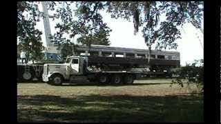Big Lift, unloading a Pullman coach from a flatcar, FRRM