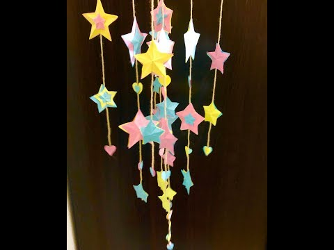 How To Make Paper Stars / DIY Paper Wall Hanging Ideas 2019