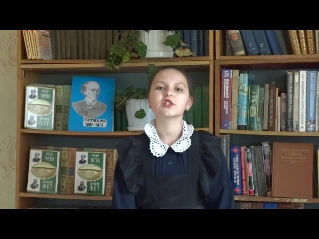 Изображение предпросмотра прочтения – АнастасияЛомакина читает произведение «Неохотно инесмело…» Ф.И.Тютчева
