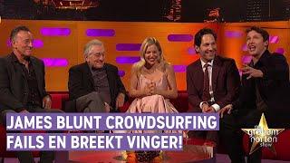 Hilarisch verhaal van James Blunt: crowdsurfen ging regelmatig mis