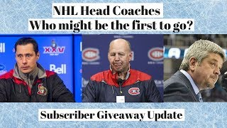 NHL Coaches on the Hot Seat - Subscriber Giveaway Update