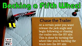 Tips on How to Back Up a Fifth Wheel Trailer
