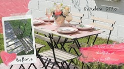 Garden DIY Vlog, Reviving IKEA TÄRNÖ table set and Easy Sew Table Runner.