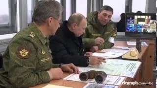 President Putin inspects Russian troops amid tensions in Ukraine