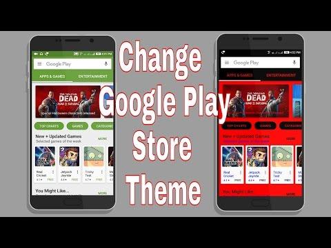 [HINDI] How To Change Google Play Store Theme