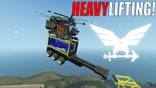 It Can Lift Some Cargo.. But The TANKER!? - Stormworks: Build and Rescue - Heavy Lift Helicopter
