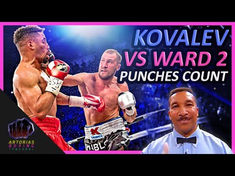 Sergey Kovalev x Andre Ward 2 (Landed Punches Count)