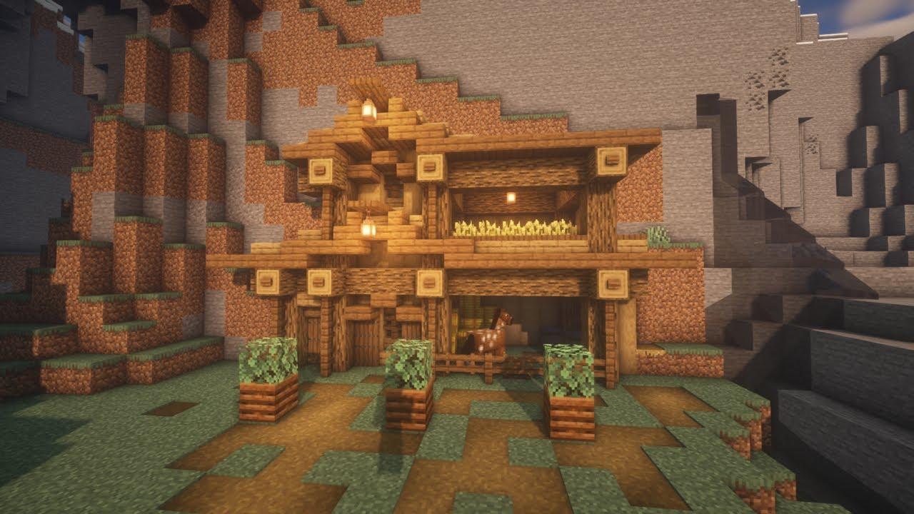 Minecraft: Mountainside Starter House Tutorial - YouTube
