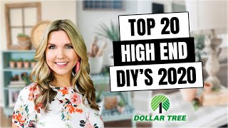 20 HIGH END DOLLAR TREE DIYs - ROOM DECOR Inspired by HIGH END DECOR