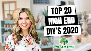 20 HIGH END DOLLAR TREE DIYs  ROOM DECOR Inspired by HIGH END DECOR