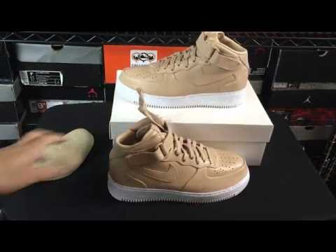 NikeLab Air Force 1 One Mid Vachetta Tan Unboxing Review