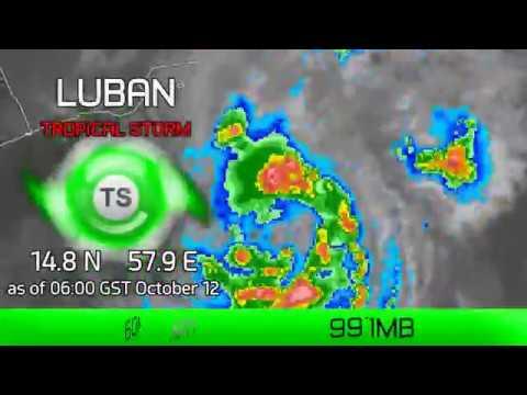 Cyclone Luban still stalling - 6am GST Oct 12, 2018