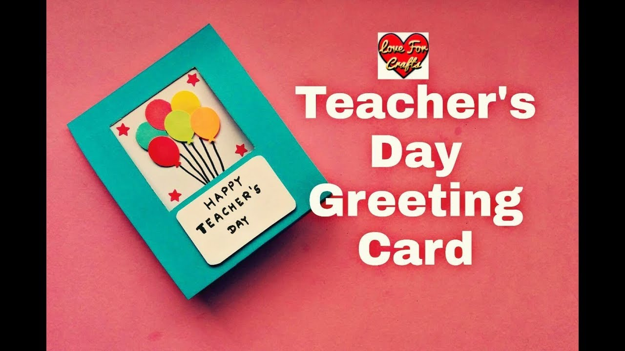 Teacher S Day Card Making Idea Diy Teacher S Day Handmade Card