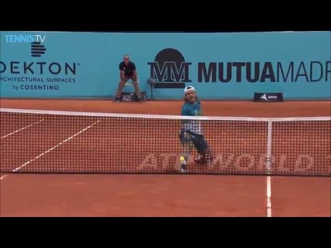 Goffin and Pouille Show Off Volleys Hot Shots Madrid 2016