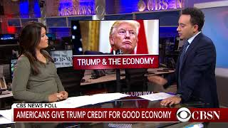 CBS News Nation Tracker poll  Americans overwhelmingly give Trump credit for economy