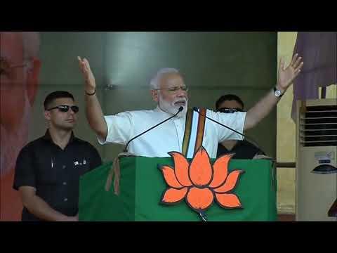 PM Modi addresses a public meeting at Guruvayoor, Kerala