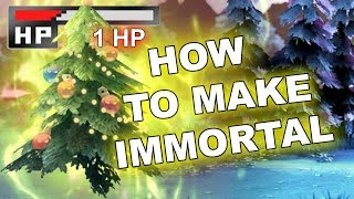 Dota 2 Tricks: IMMORTAL Frostivus Christmas Tree BUG (1 HP)!