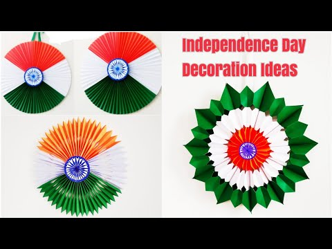 DIY 3 Easy Tricolour Independence Day Wall Hanging/Tricolour Paper Craft Ideas