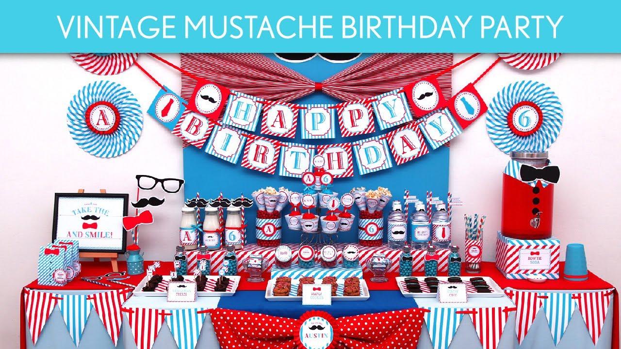 Vintage Bow Tie Birthday Party Ideas // Vintage Bow Tie - B75 ...