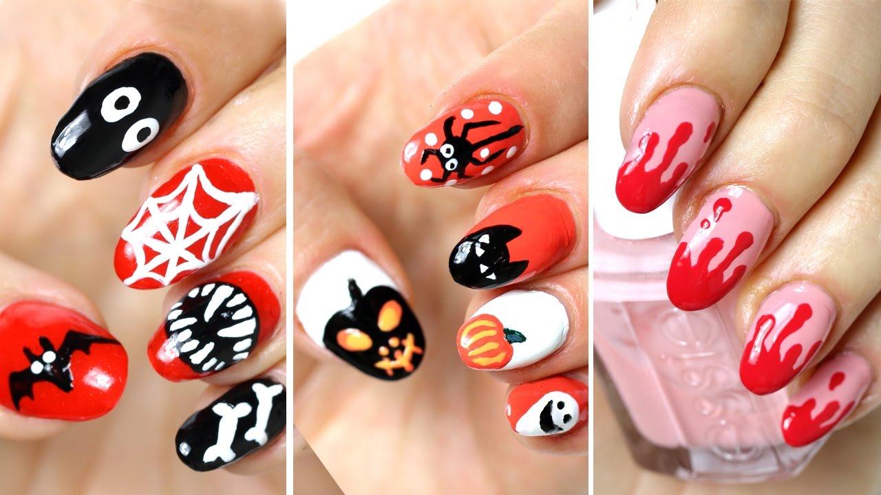 Tuto nail art d\u0027Halloween ★ Manucure facile a faire ★ 11 idées déco ongles