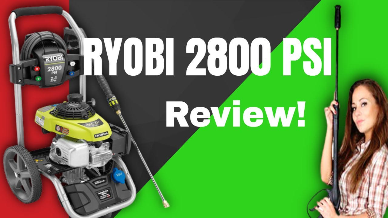 RYOBI 2800 PSI Gas Pressure Washer Review YouTube