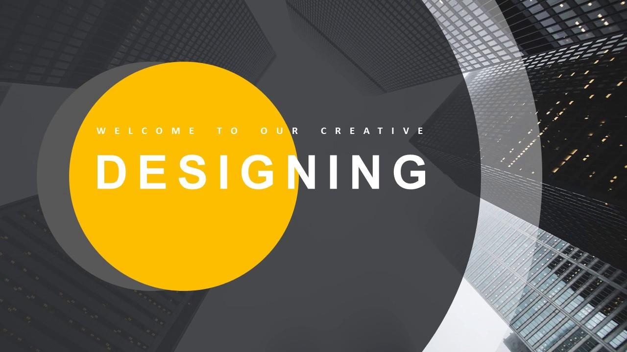 Yellow Modern Report Design Powerpoint Template