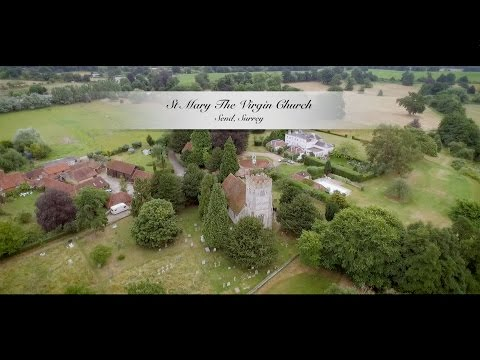Drone aerial video of wedding in Send and Chiddingfold, Surrey