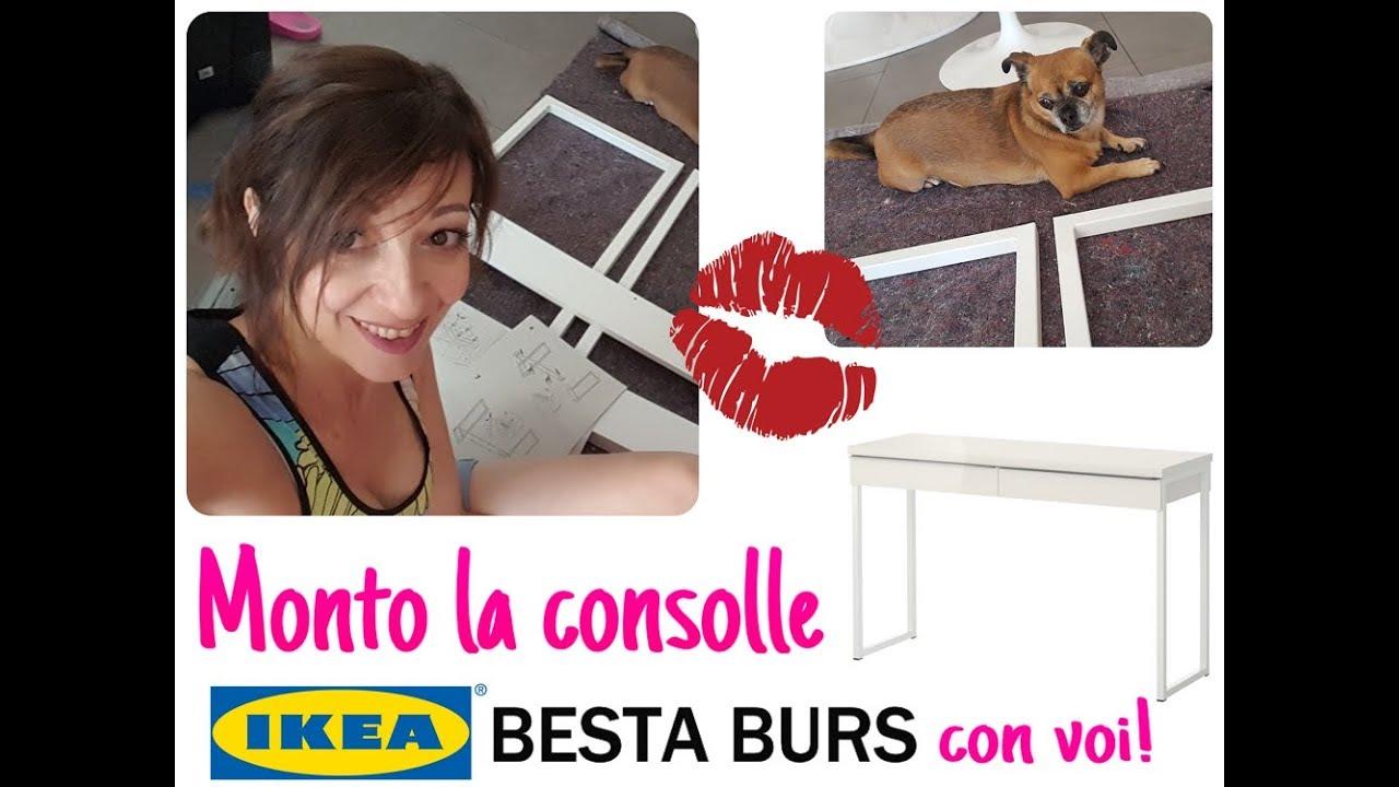 Ikea Tavolo Consolle Allungabile.Vlog Zoe Carpentiera Monto La Consolle Ikea Besta Burs Con I