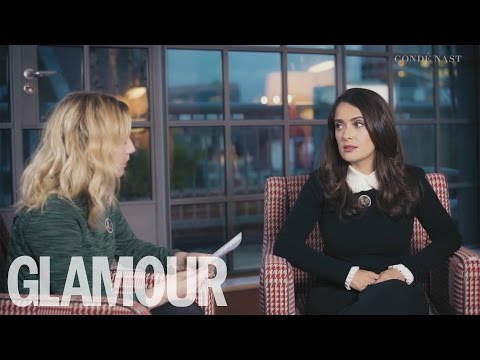 Salma Hayek Interview on Women's Domestic Violence with the Kering Foundation   Glamour UK