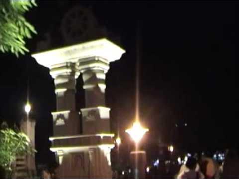 Outside Mahabodhi Maha Vihara at night