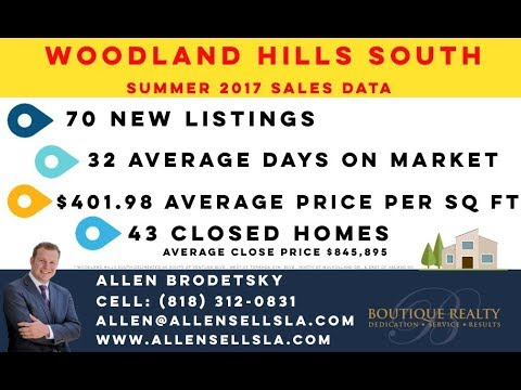 Woodland Hills South Real Estate Statistics Summer/2017