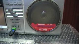 SHARP GF-7500 с ФЛЕШКОЙ УСТАНОВКА MP3 плеера РЕМОНТ  SHARP