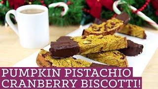 Biscotti! Gluten Free Pumpkin Pistachio Cranberry Cookies, Kin Community Cookie Collab!