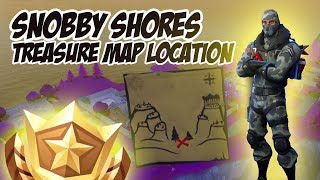 Snobby Shores Treasure Map Location - Fortnite Battle Royale (Weekly Battle Pass Challenges, Week 3)