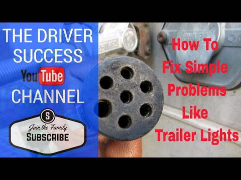 Truck Driving - How To Fix Simple Problems Like Trailer Lights