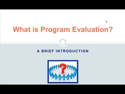 What is program evaluation?: A Brief Introduction
