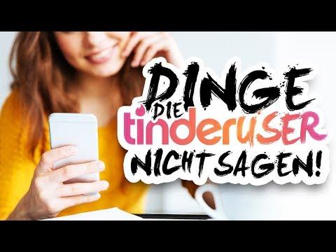 DINGE, DIE TINDER USER NICHT SAGEN
