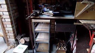 Самодельный передвижной стол стеллаж металлический для обустройства гаражной мастерской(, 2015-10-21T13:57:37.000Z)