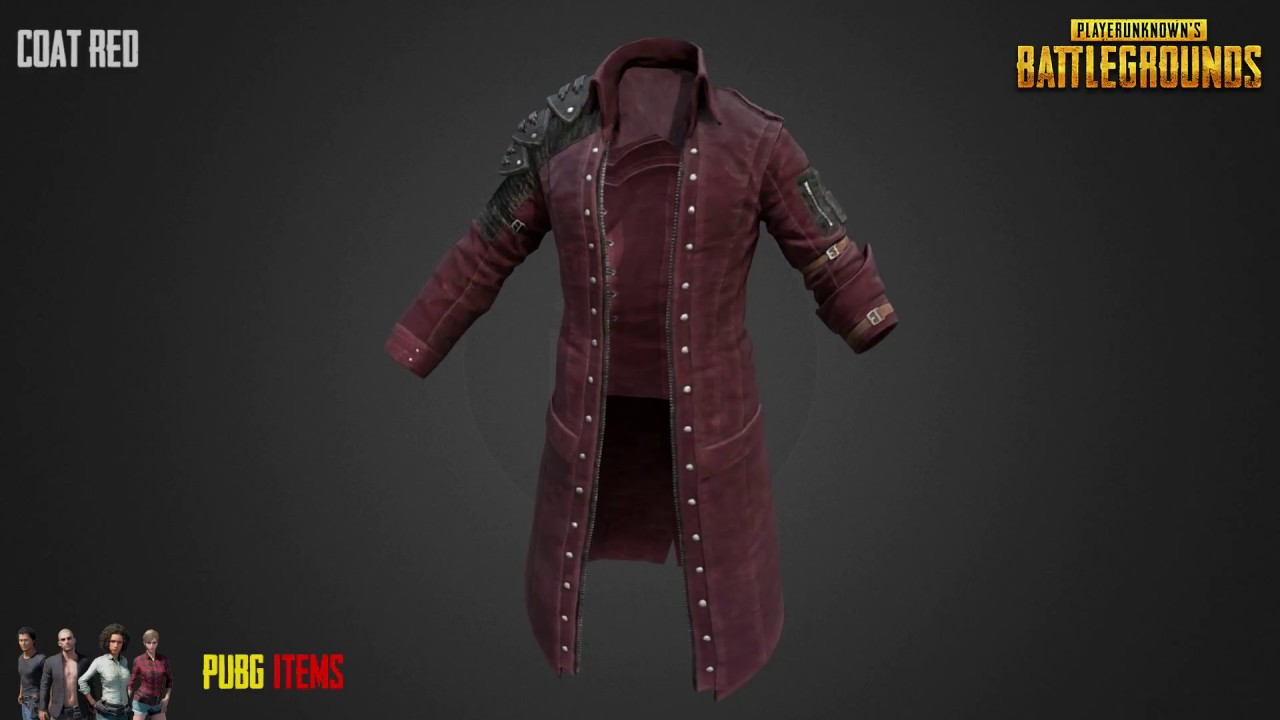 Coat Red Pubg Item Showcase Youtube