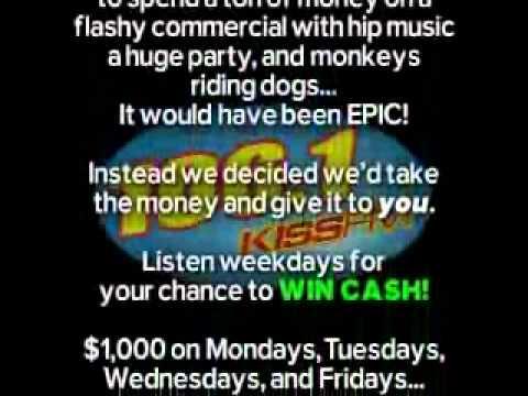 Win Cash on 1061 KISSFM!