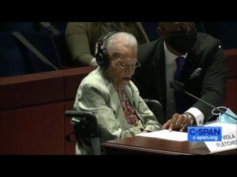 107-Year-Old Tulsa Race Massacre Survivor Viola Fletcher Testifies Before Congress