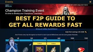 Raid Shadow Legends Best Champion Training Event Guide | How To Get All Rewards Tips For F2P Players