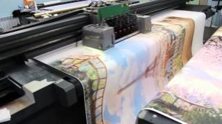 видео печать на обоях
